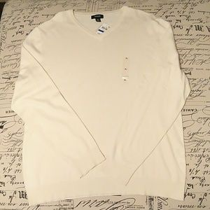 Beige Alfani V-neck light weight sweater